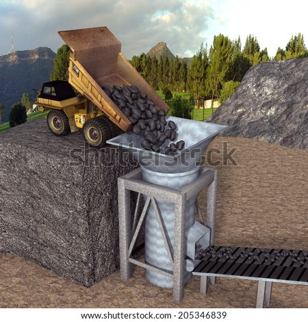 Cement manufacture - stock photo