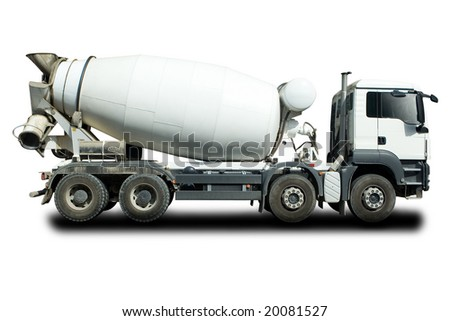Cement Mixer Truck - stock photo