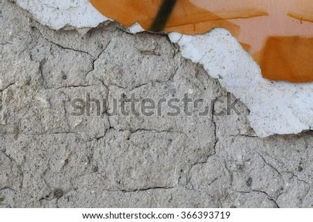 cement mortar wall texture, concrete rough grain surface, grunge background - stock photo