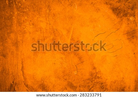 Cement orange wall background - stock photo