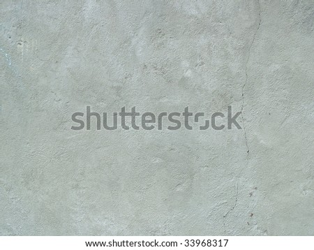 Cement plain wall, clear with one scratches - stock photo