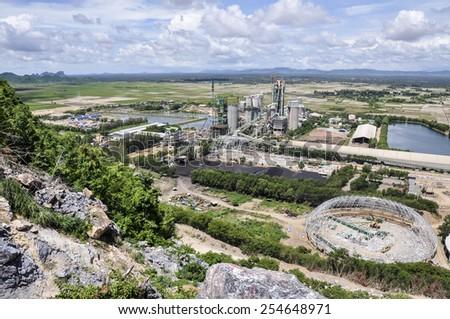 Cement plant, Cambodia. - stock photo