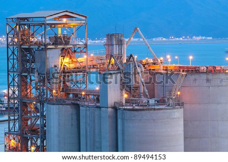 Cement Plant close up - stock photo