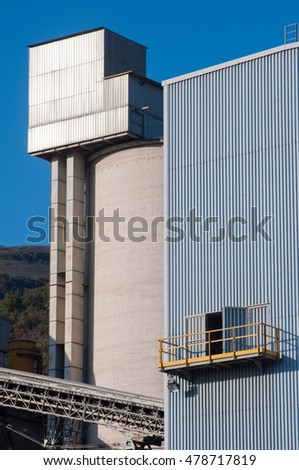 Cement plant for construction industry