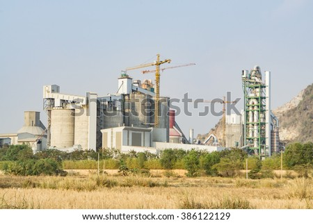 Cement plant in Cambodia - stock photo