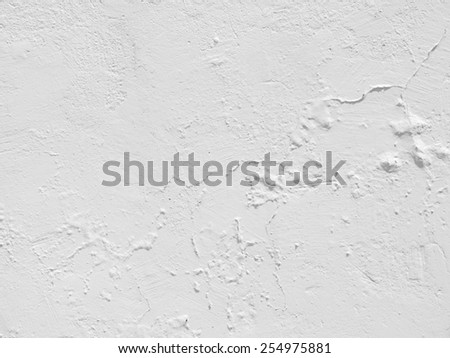 cement plaster white wall texture background - stock photo