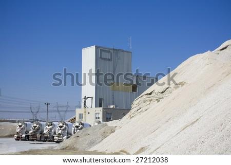 Cement production plant - stock photo