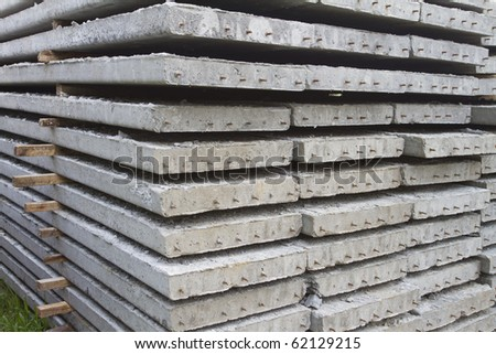 Cement slab. - stock photo