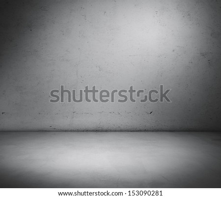 cement wall and floor - stock photo