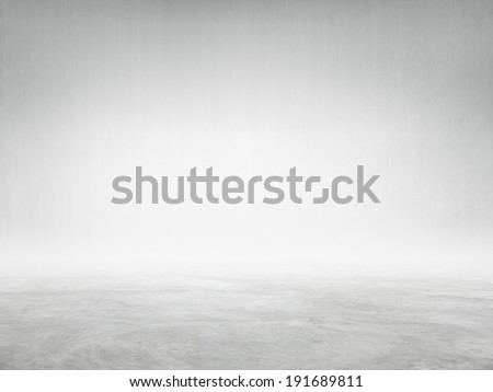 Cement Wall and Floor for Copy Space - stock photo