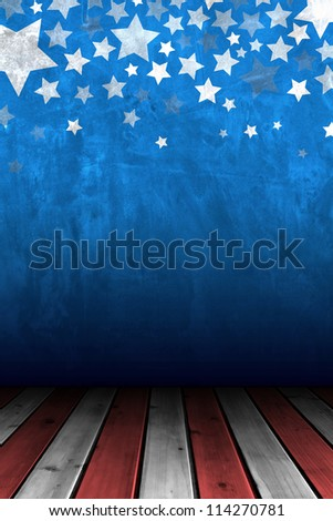 Cement wall for background with stars decorative - stock photo