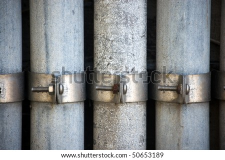 cement wall , pipes, plumbing industry