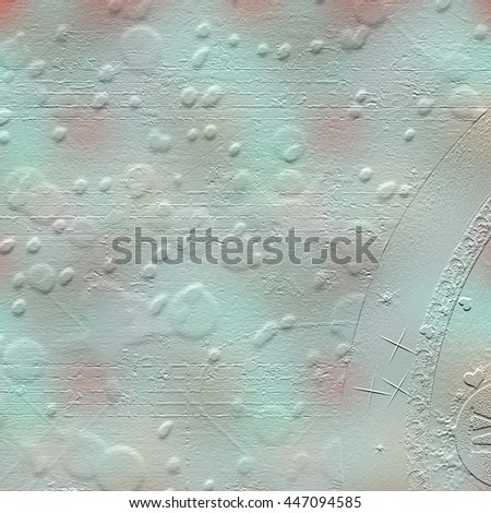 Cement wall with a relief pattern in the form of multi-colored balls. Abstract background