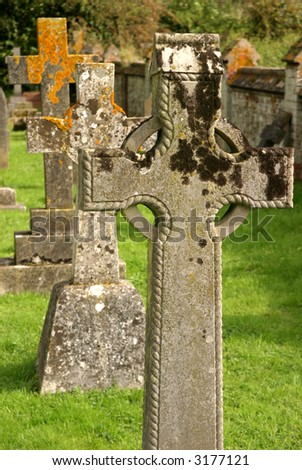 cemetery and celtic cross