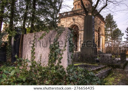 cemetery in croatia - stock photo
