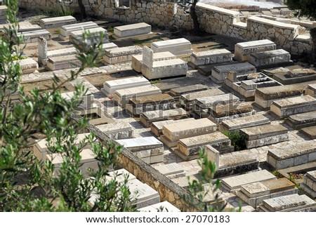 Cemetery in Jerusalem - stock photo