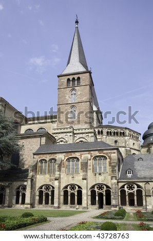 Cemetery in the courtyard of the Cathedral of Saint Peter (Trier, Germany)