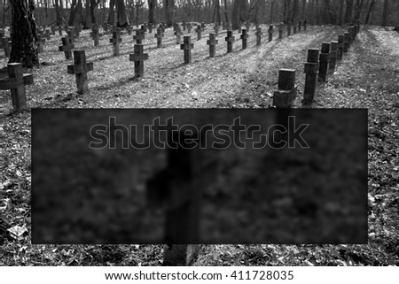 Cemetery Mourning Background - stock photo