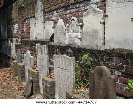 Cemetery Wall - stock photo