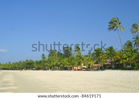 Cenang beach on Langkawi island, Malaysia - stock photo