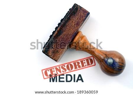 Censored media - stock photo
