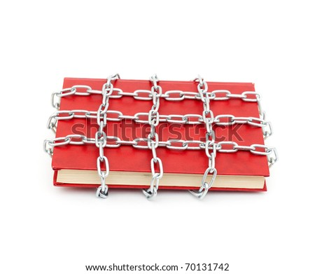 Censorship concept with books - stock photo