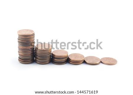 Cent Graph - stock photo