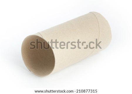 center axis of tissue paper roll - stock photo
