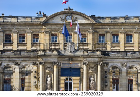 Center historical Bordeaux-France-Europe - stock photo
