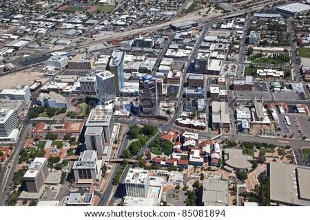 Center of Downtown Tucson, Arizona - stock photo