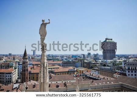 Center of Milan. Arch. Passage. Duomo - stock photo