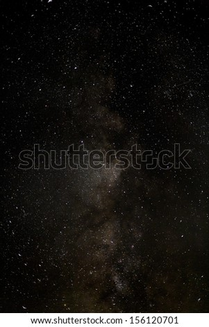 Center of The Milky Way.  - stock photo