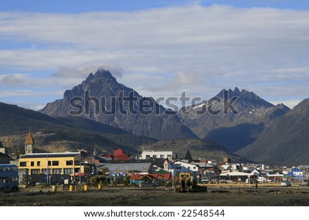 Center of Ushuaia, Tierra del Fuego, Argentina - stock photo