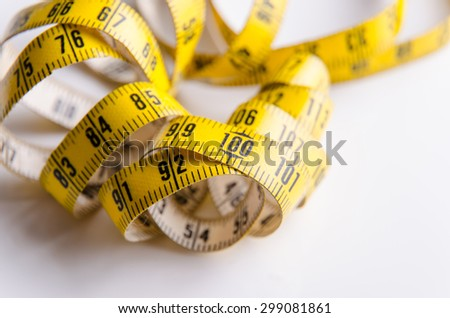 Centimeter for using in dressmaking or measuring. - stock photo