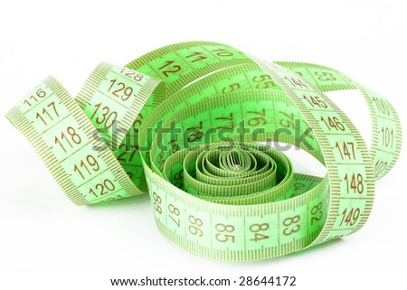 centimeter isolated on white background - stock photo