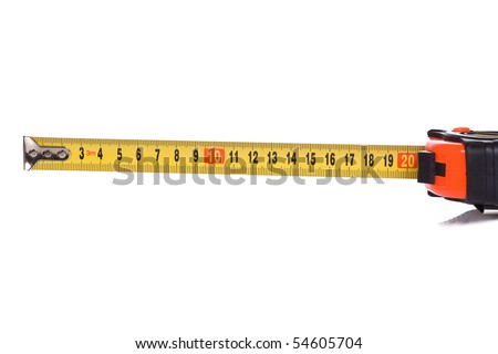 centimeter tape measure on white