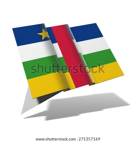 Central African Republic flag 3D banner - stock photo