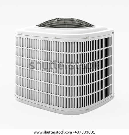 central air conditioner clipart. central air conditioner. 3d render. conditioner clipart