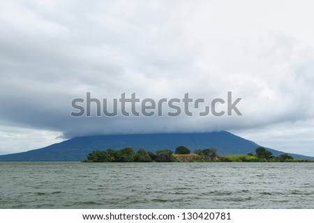 Central America, Nicaragua, landscapes on an Ometepe island. The picture present view on the volcano Maderas - stock photo