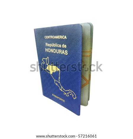 Central America Passport - stock photo