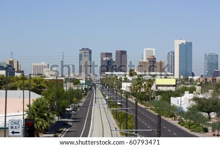 Central Avenue, Phoenix, AZ - stock photo