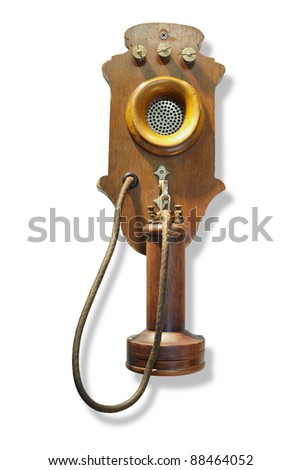 Central Battery system wall mounted telephone for short-haul networks - stock photo