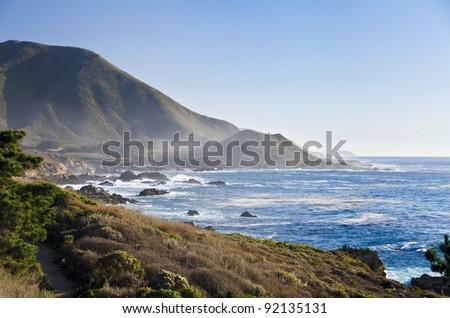 Central Coast, Big Sur near Monterey, California - stock photo