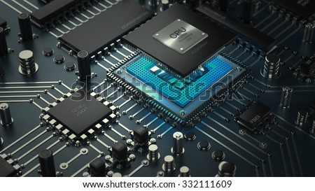 Central Computer Processors CPU concept. technology background. High resolution 3d render