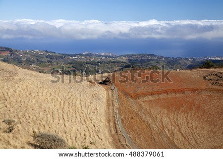 Central Gran Canaria, view north east over agricultural areas of the island