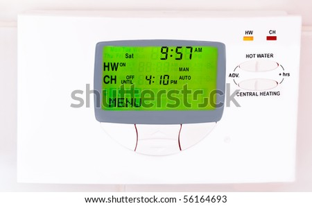 Central heating control unit - stock photo