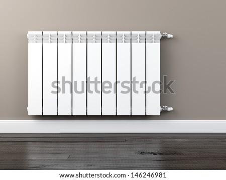 central heating radiator - stock photo