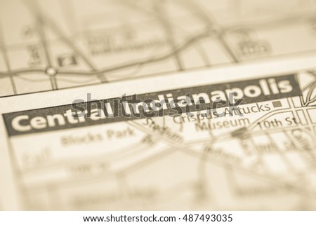 Central Indianapolis. Indiana. USA