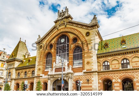 Central Market Hall in Budapest, Hungary - stock photo