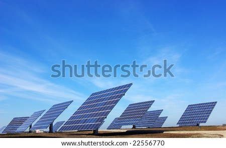 Central of photovoltaic panels.